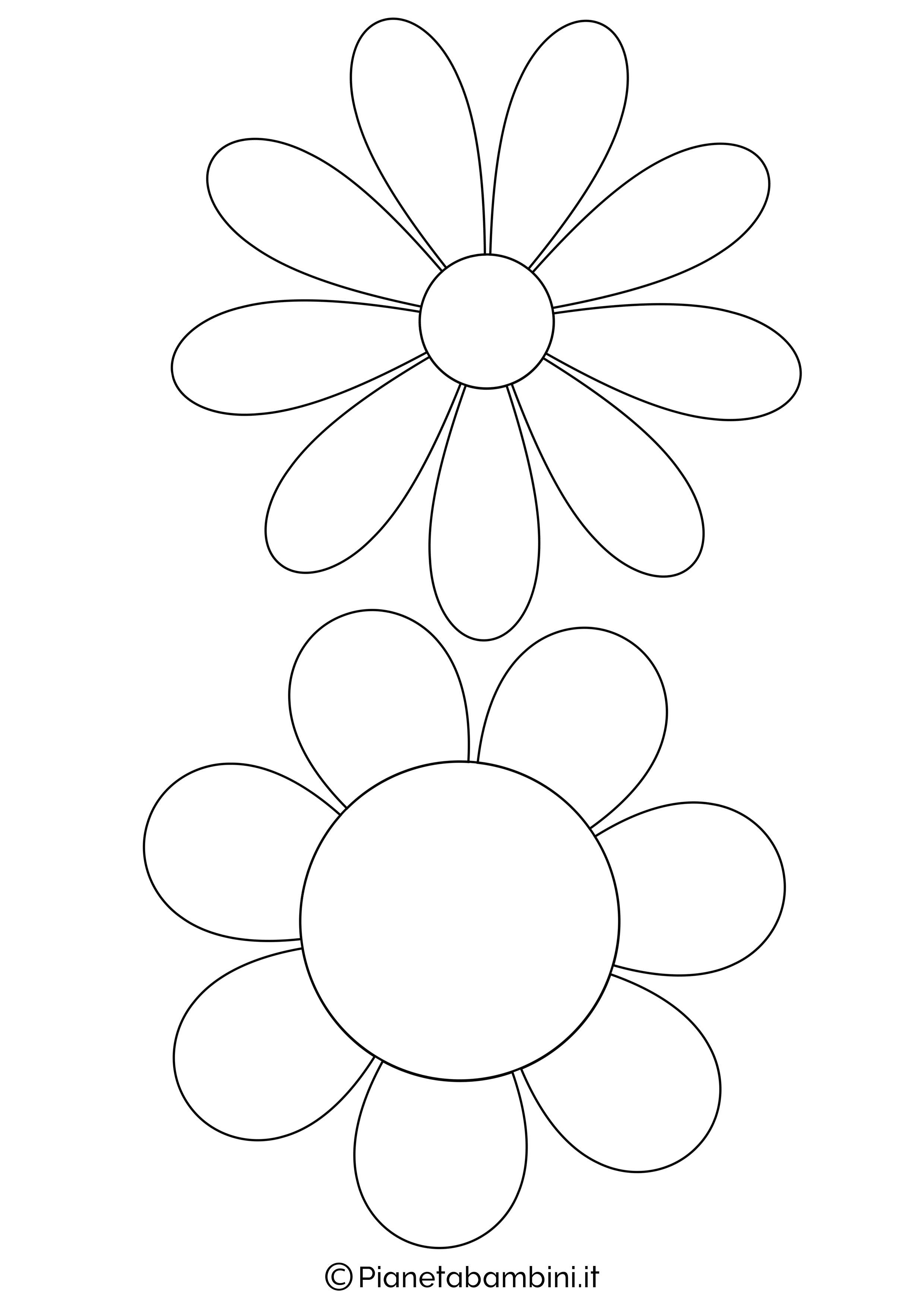 Sagome fiori medie da stampare 2