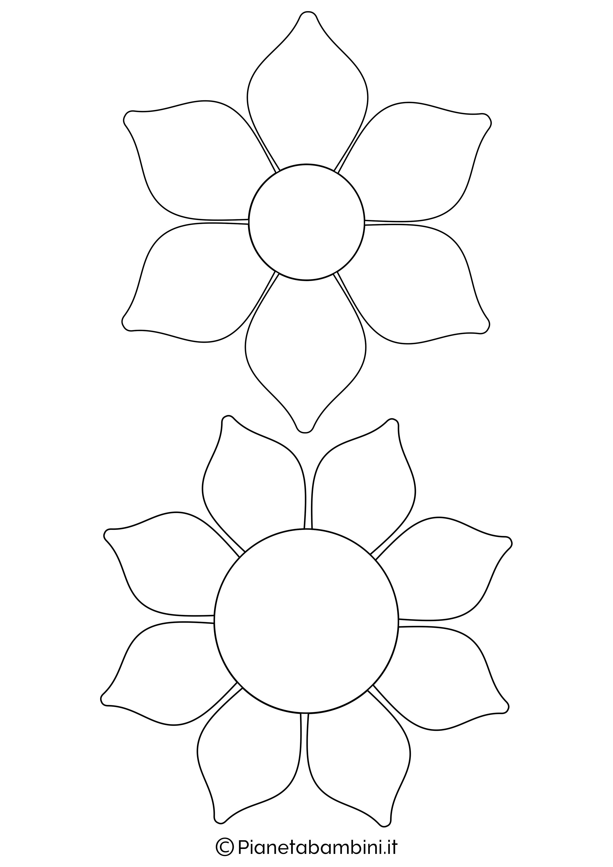 Sagome fiori medie da stampare 3