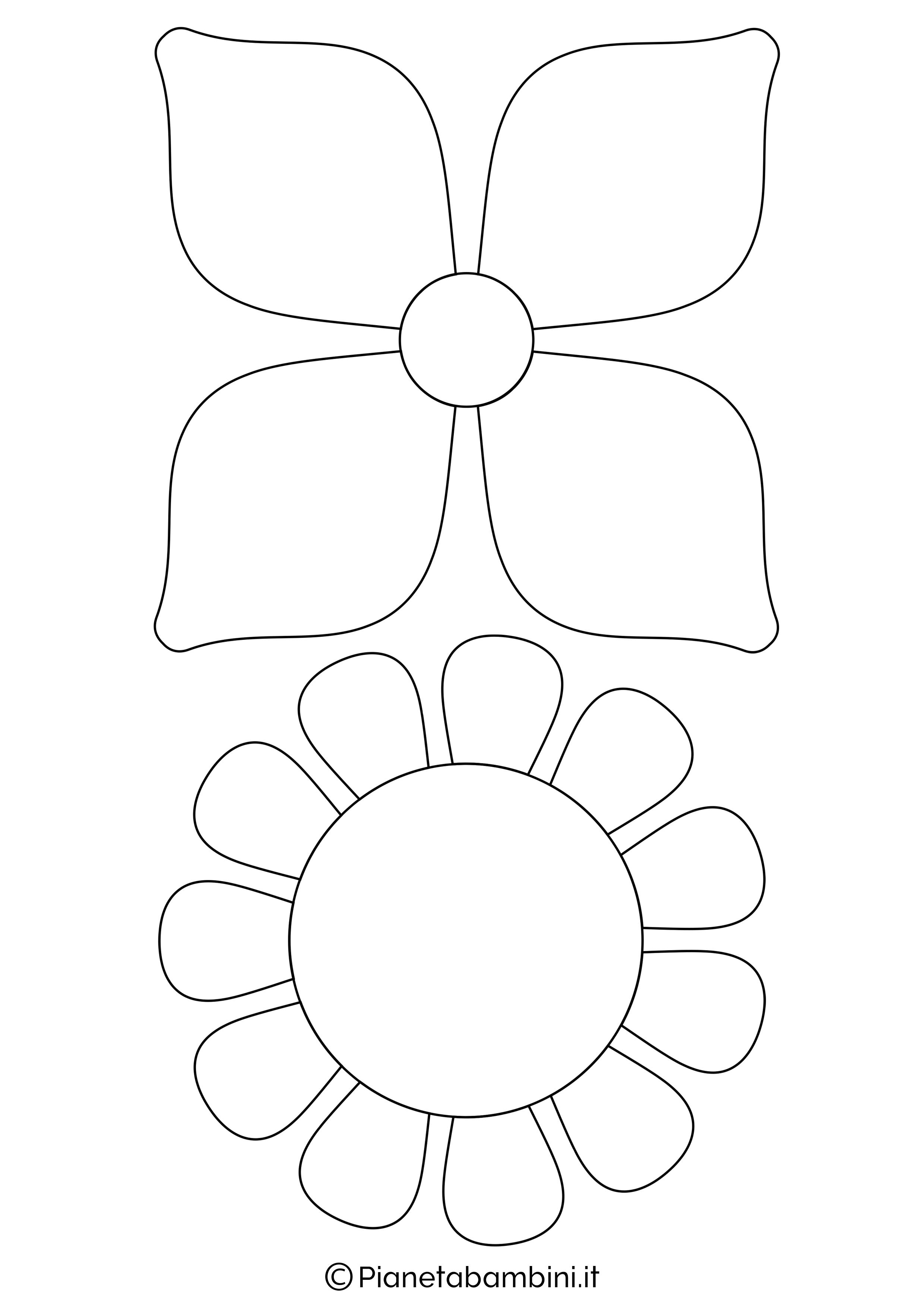 Sagome fiori medie da stampare 4