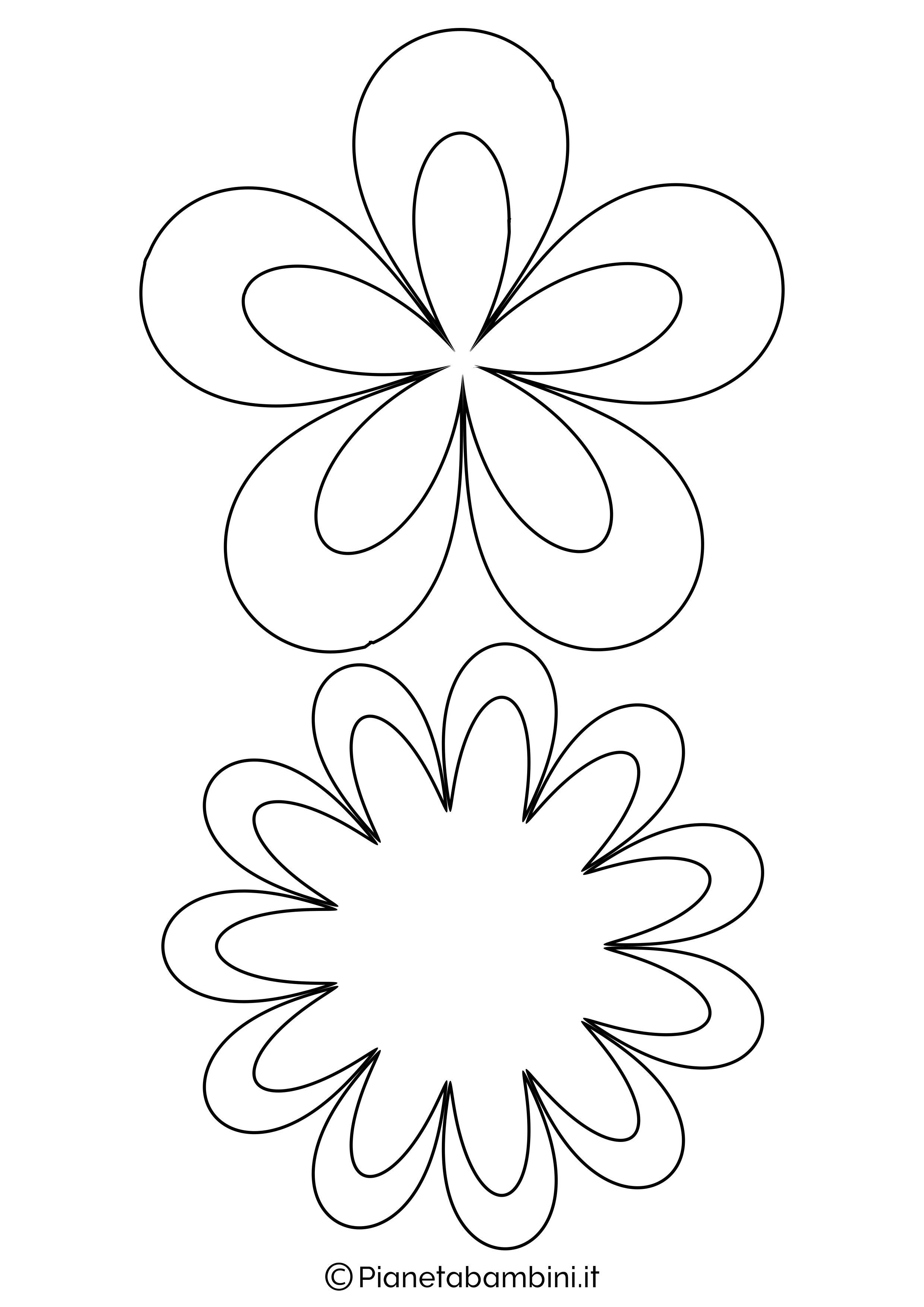 Sagome fiori medie da stampare 5
