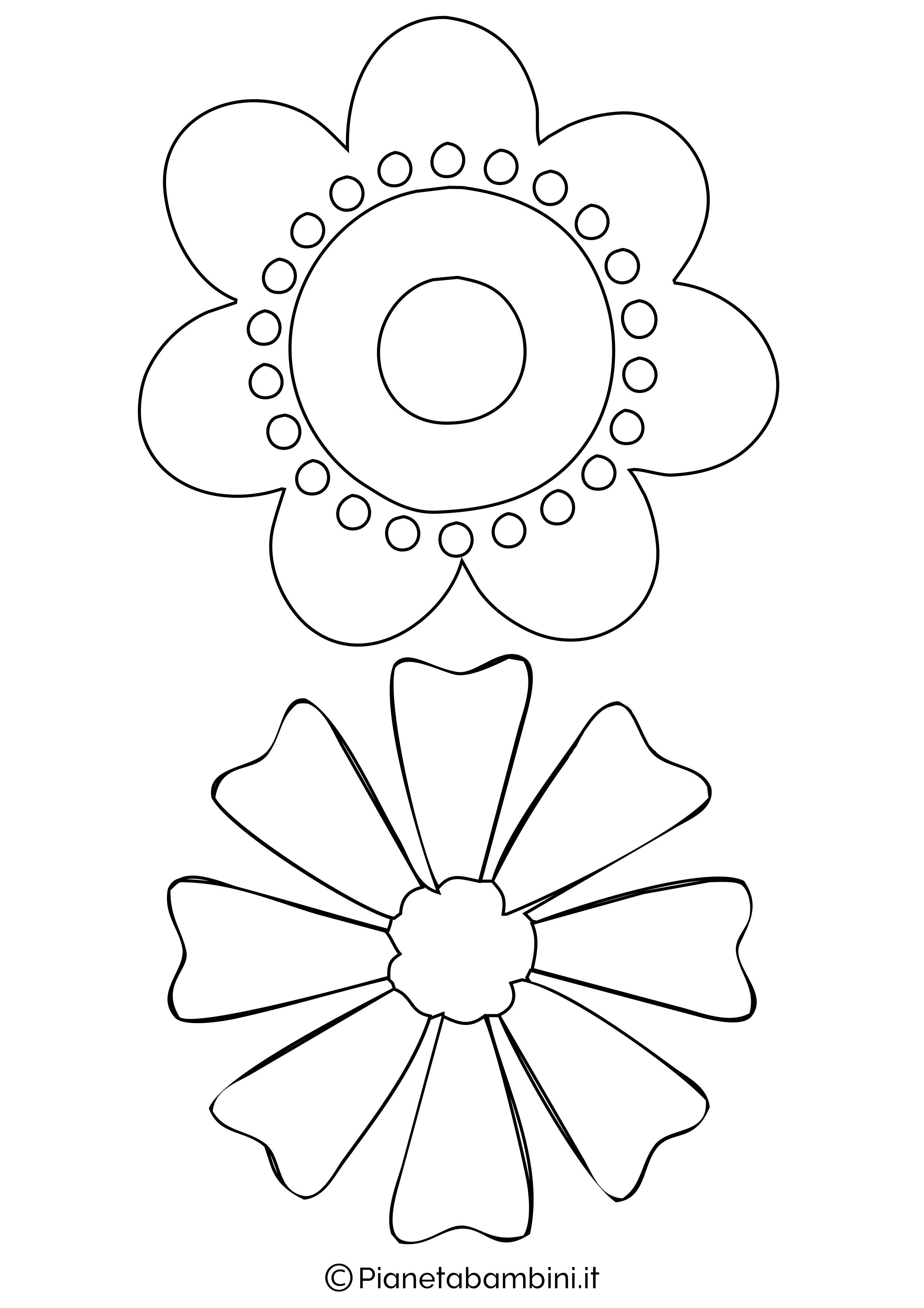 Sagome di fiori da colorare e ritagliare per bambini