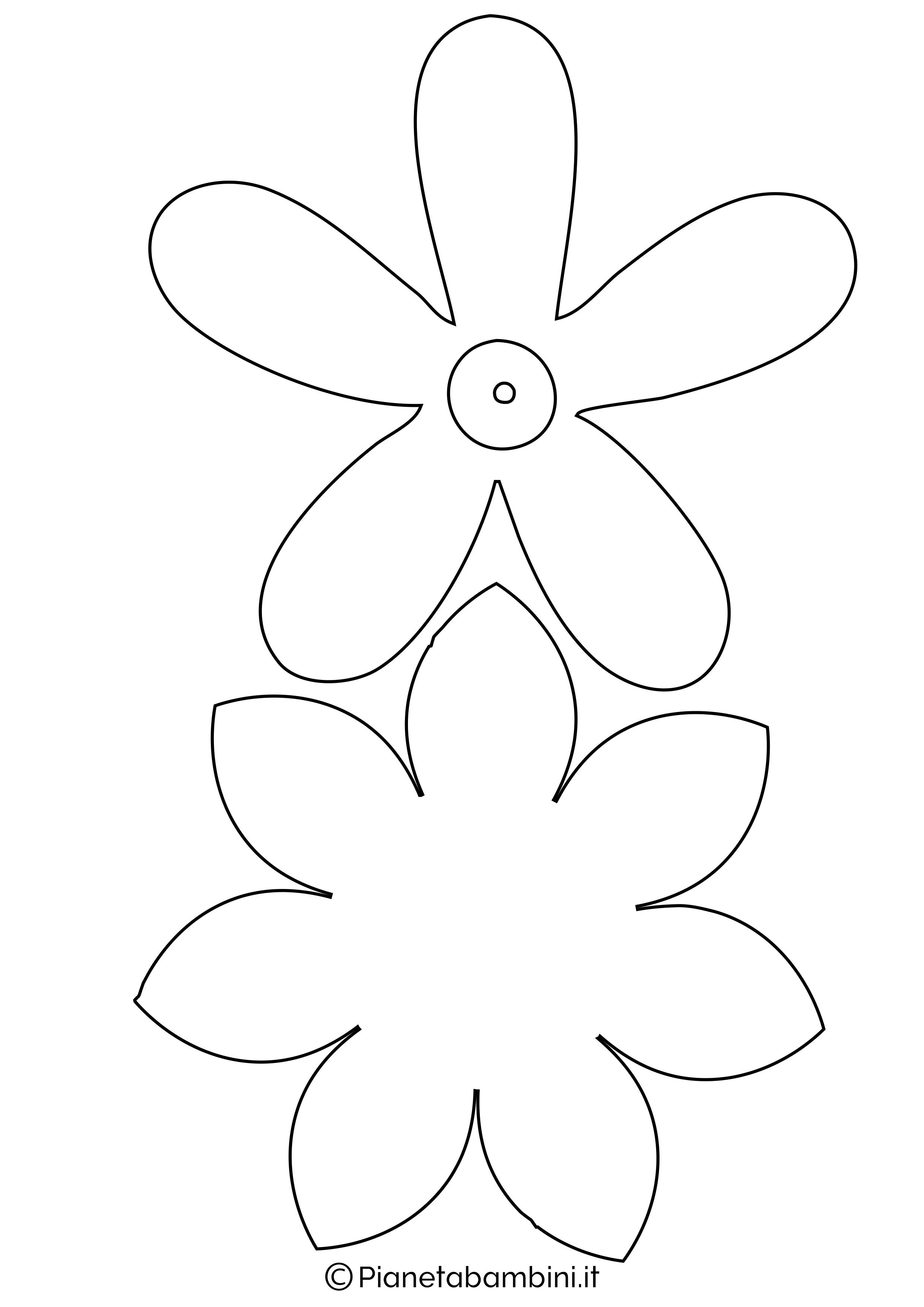 Sagome fiori medie da stampare 8