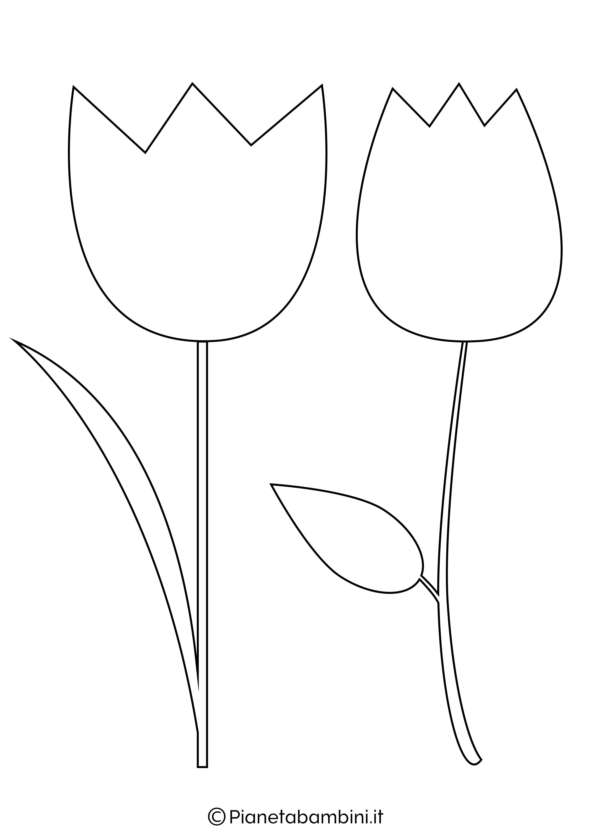 81 sagome di fiori da colorare e ritagliare per bambini for Disegno vaso da colorare