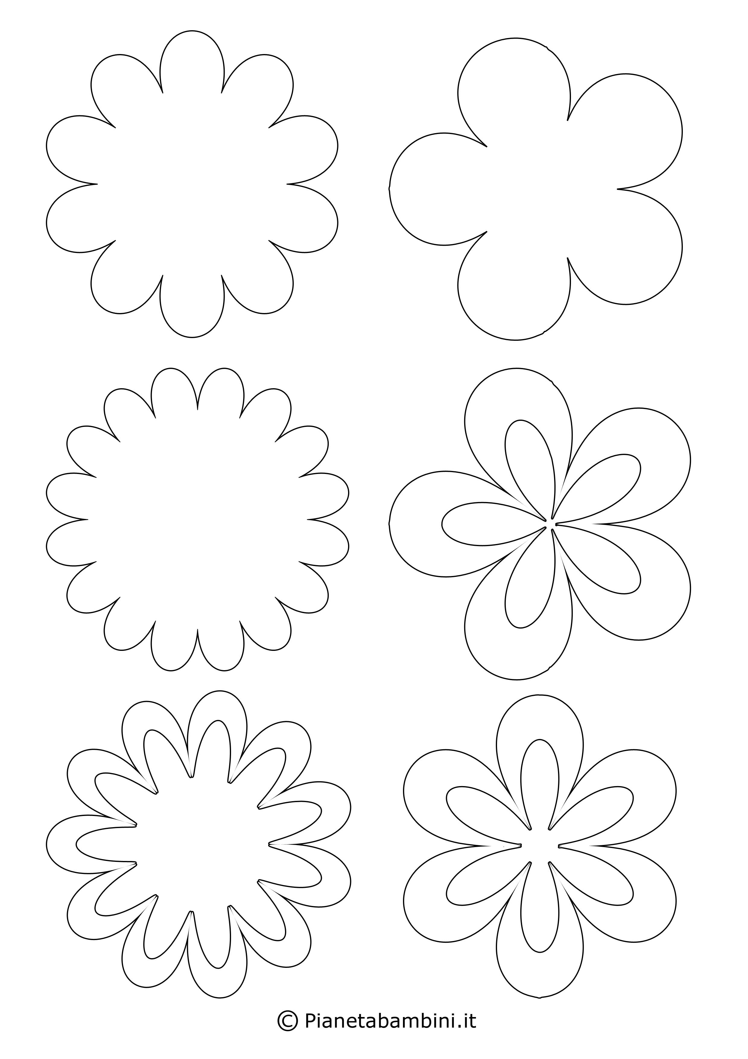 Sagome di fiori piccoli 1