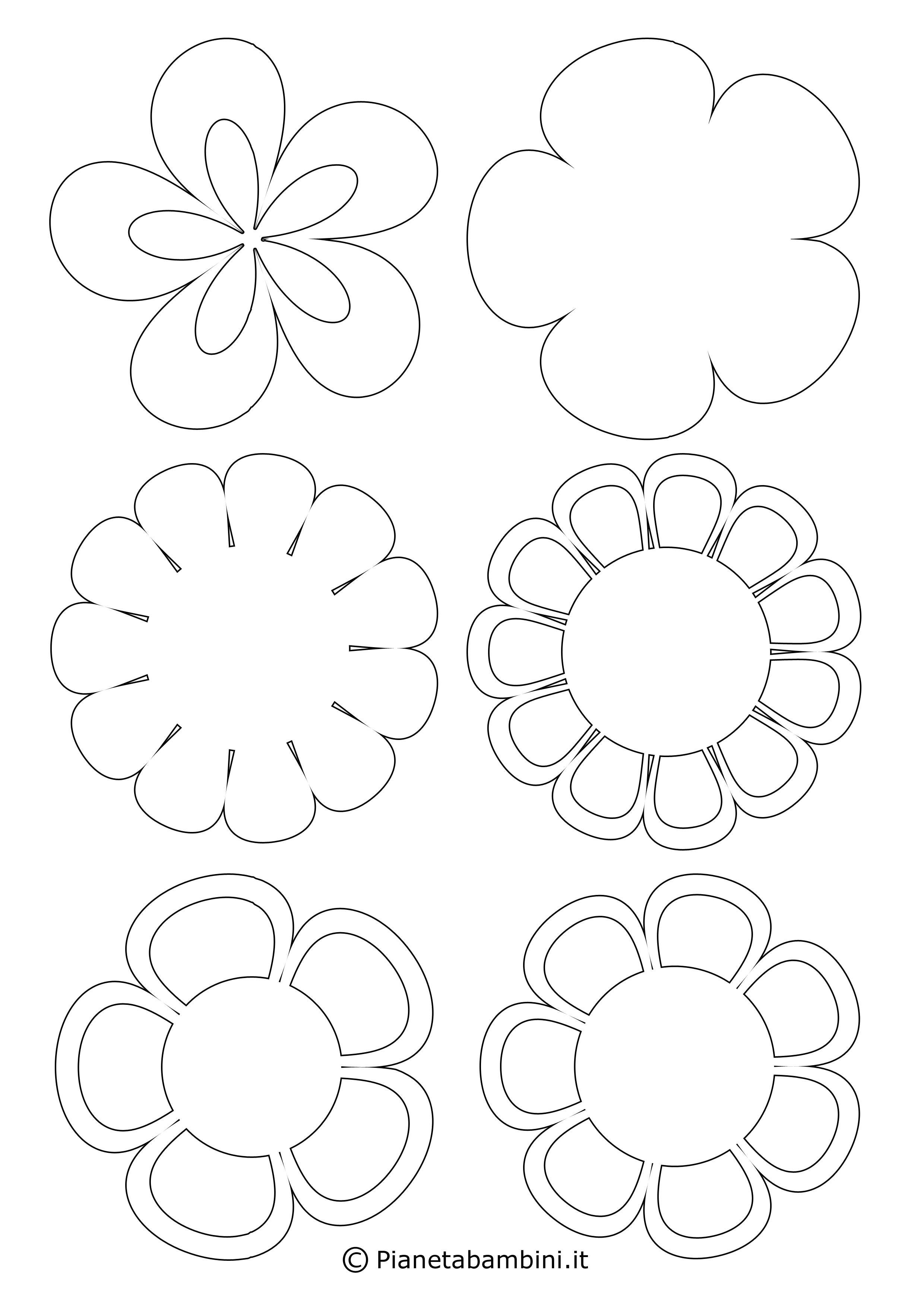 Sagome di fiori piccoli 3