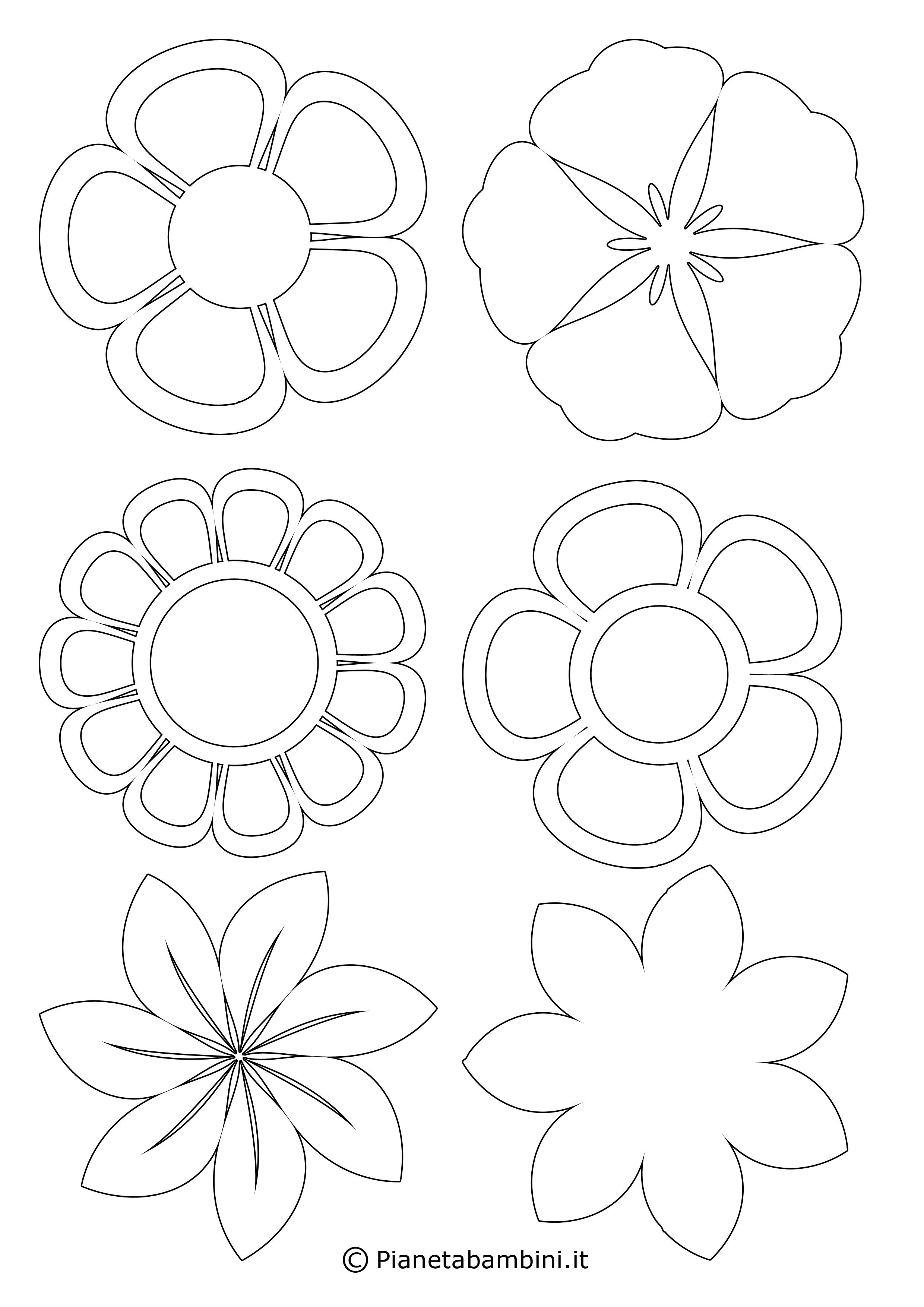 81 sagome di fiori da colorare e ritagliare per bambini for Immagini farfalle da ritagliare