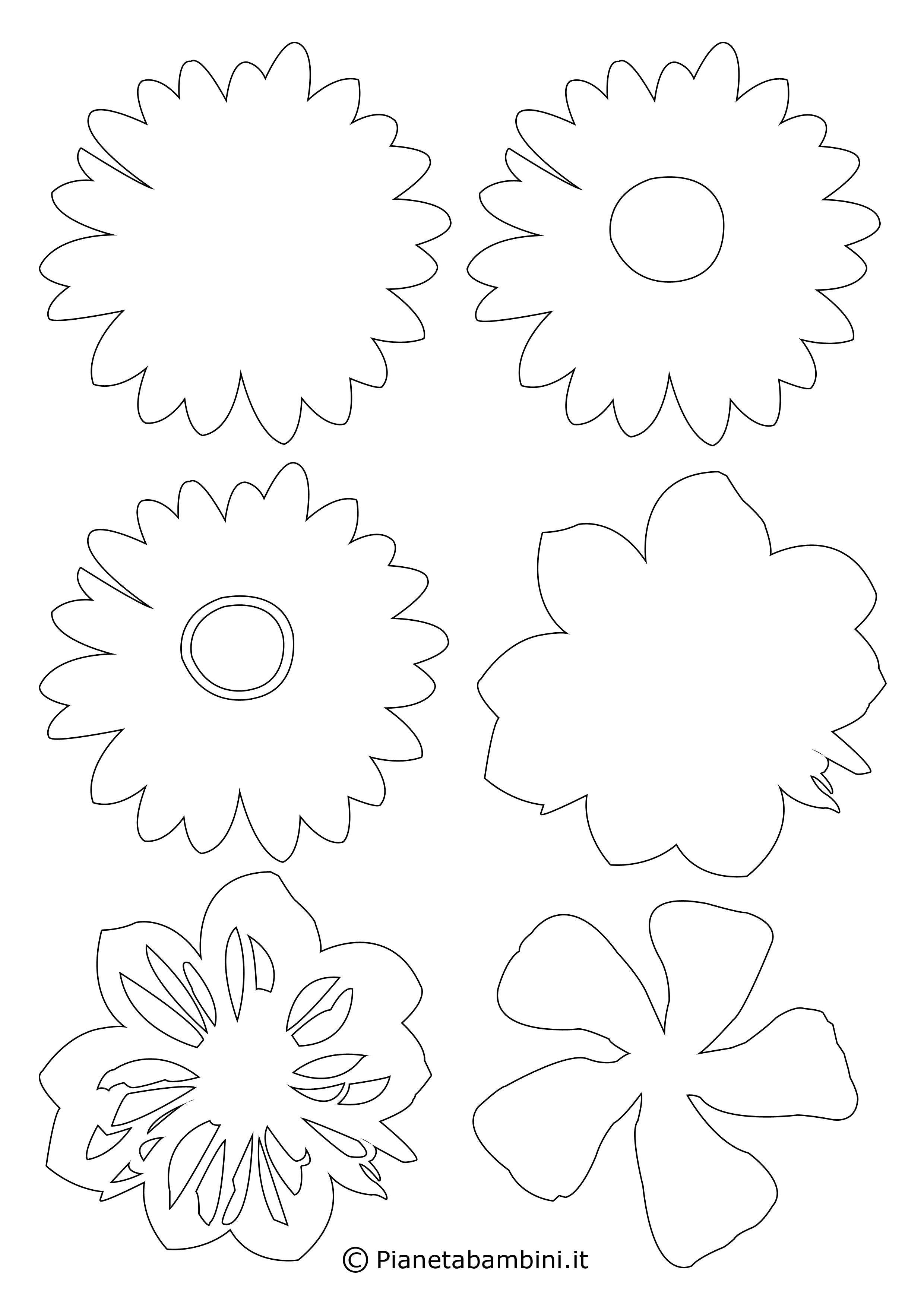Sagome di fiori piccoli 5