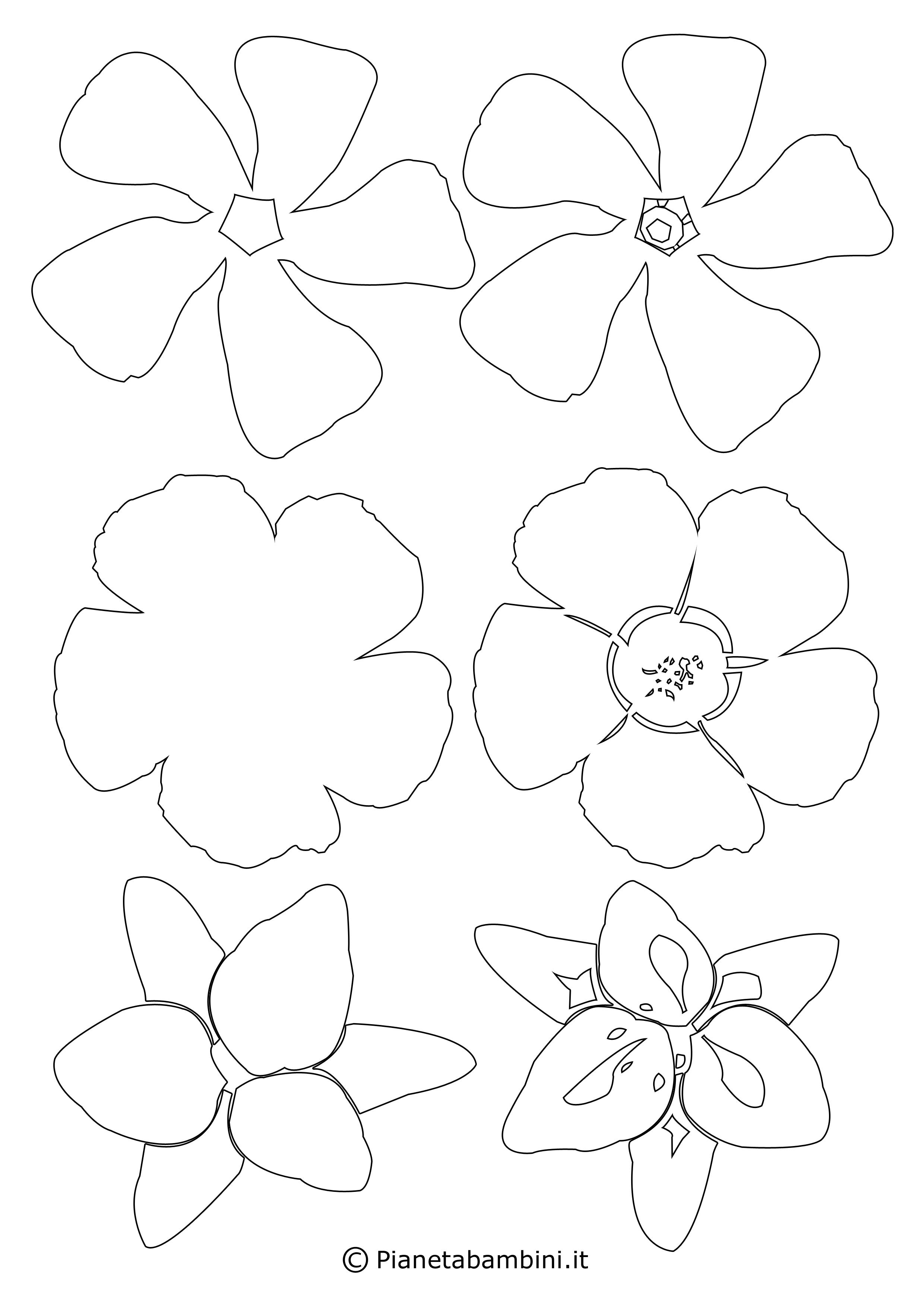 Sagome di fiori piccoli 6