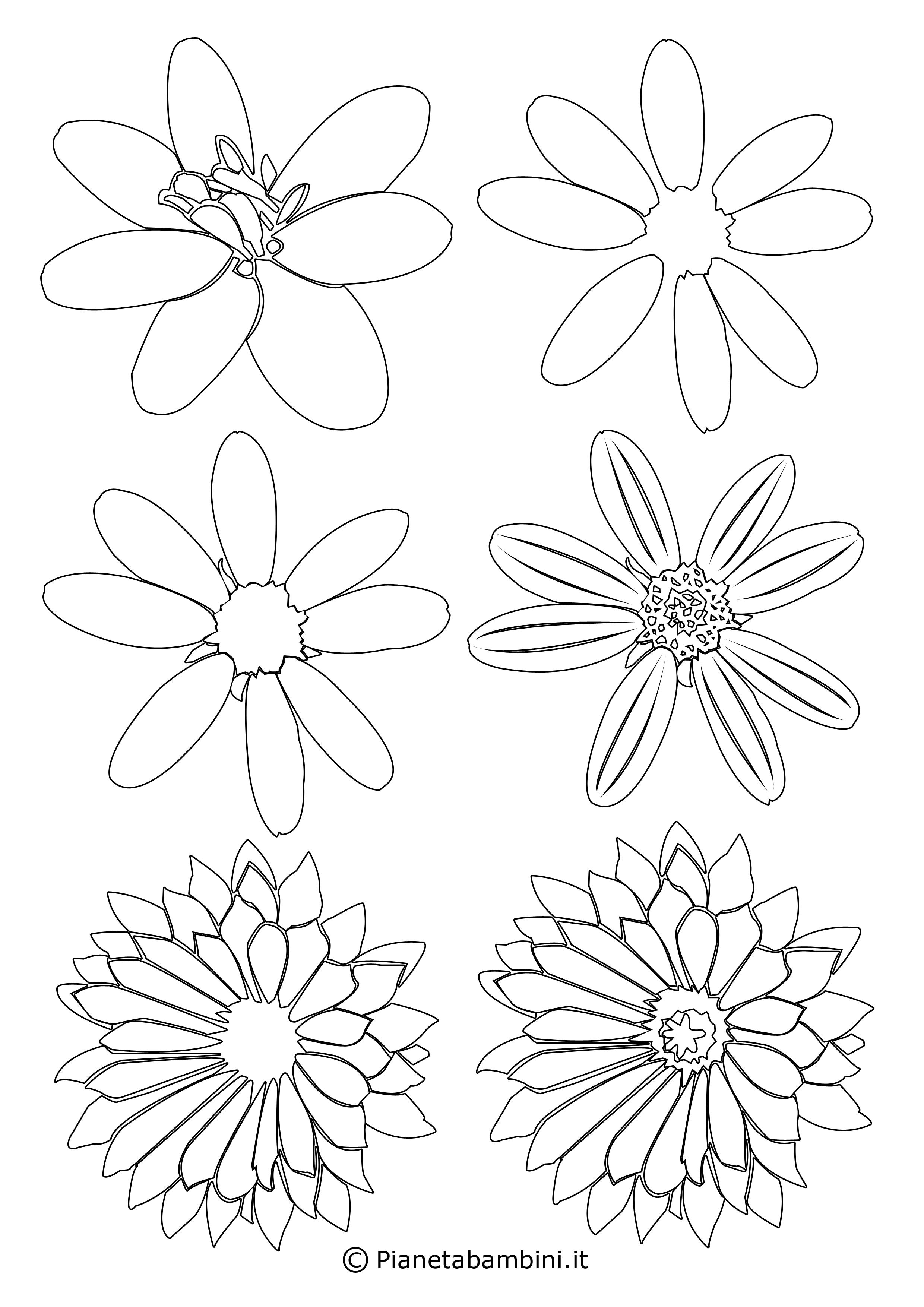 Sagome di fiori piccoli 7