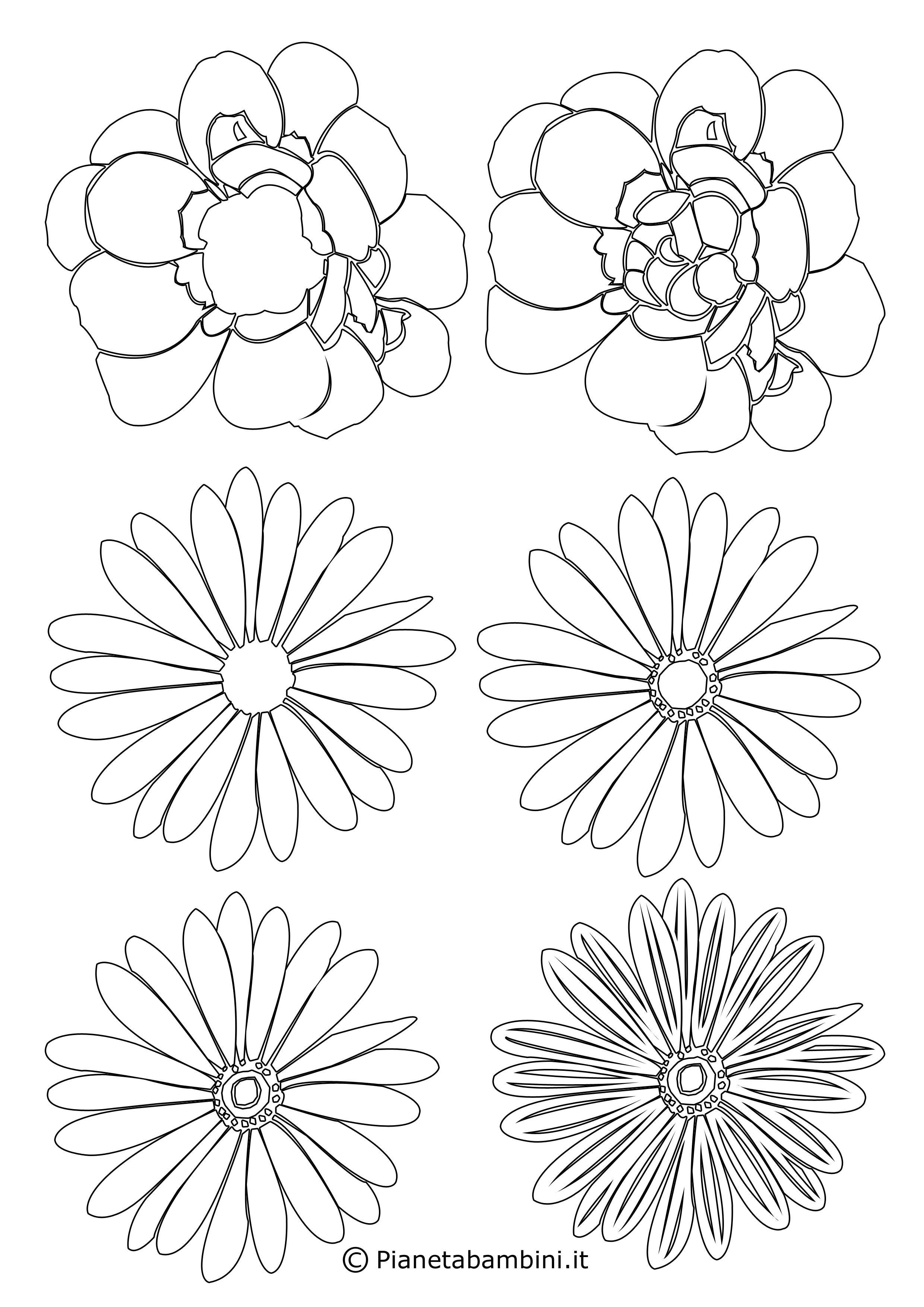 Sagome di fiori piccoli 8