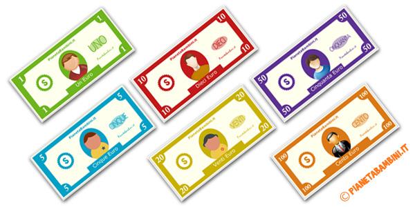 Banconote finte per bambini