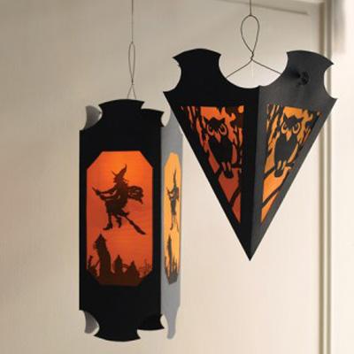 Foto delle decorazioni di Halloween con la strega