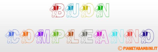 Festone di compleanno con orsacchiotti colorati