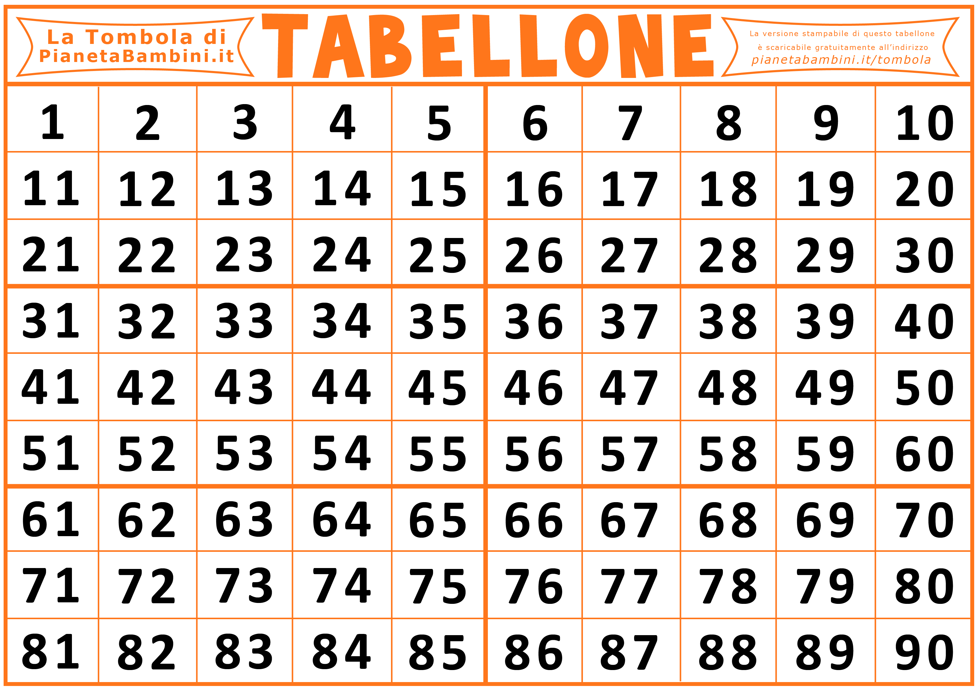 tabellone tombola