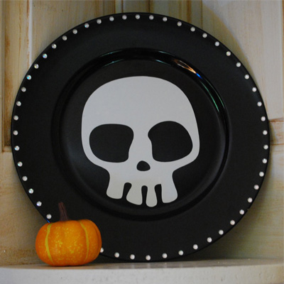 Foto delle decorazioni di Halloween con il teschio