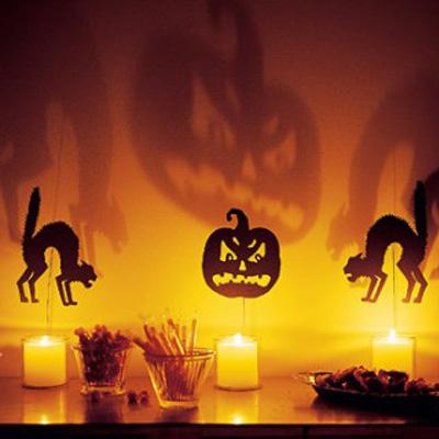 Foto delle decorazioni di Halloween con la zucca