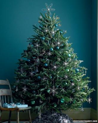 Immagine dell'albero di Natale argentato