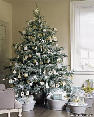 Palline per albero di natale bianche