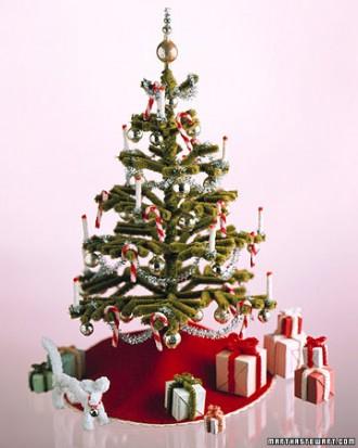 Immagine dell'albero di Natale con le candele