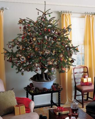 Immagine dell'albero di Natale di pigne