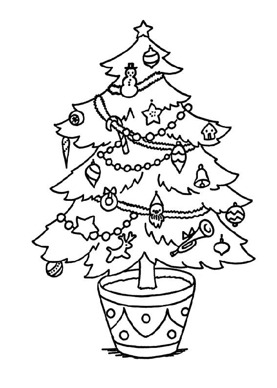 21 Disegni Dellalbero Di Natale Da Colorare Pianetabambiniit