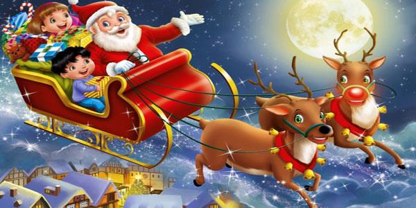 Immagini di Babbo Natale da colorare