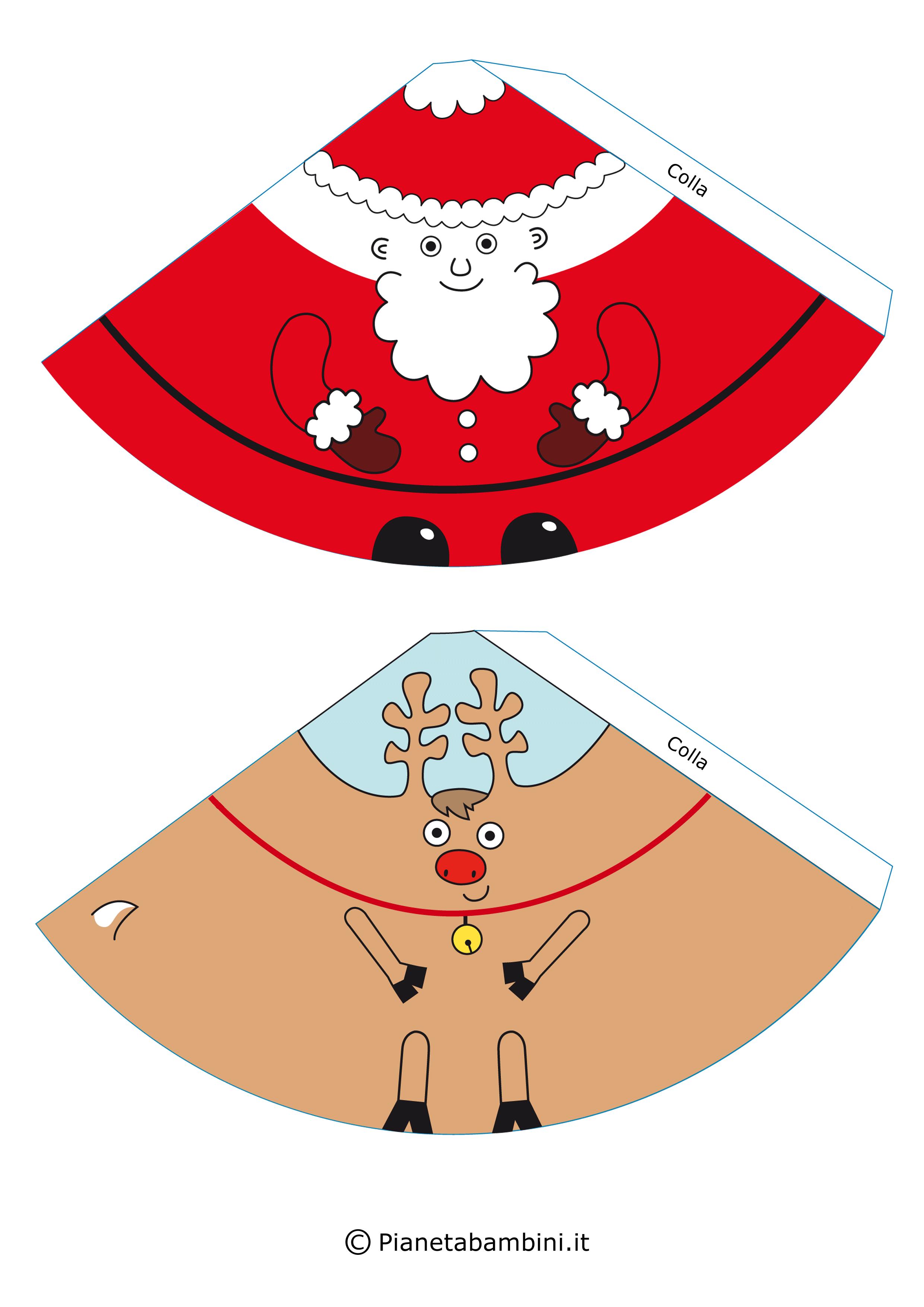 Molto Lavoretti di Natale Facili per Bambini: Babbo Natale e i suoi  IY12