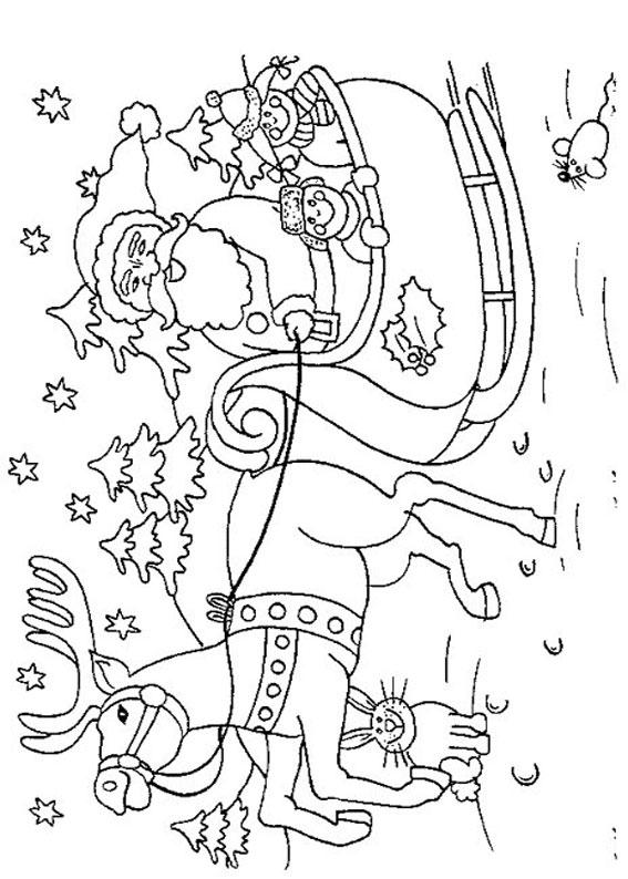 60 disegni di babbo natale da colorare - Dessin de noel a colorier gratuit ...