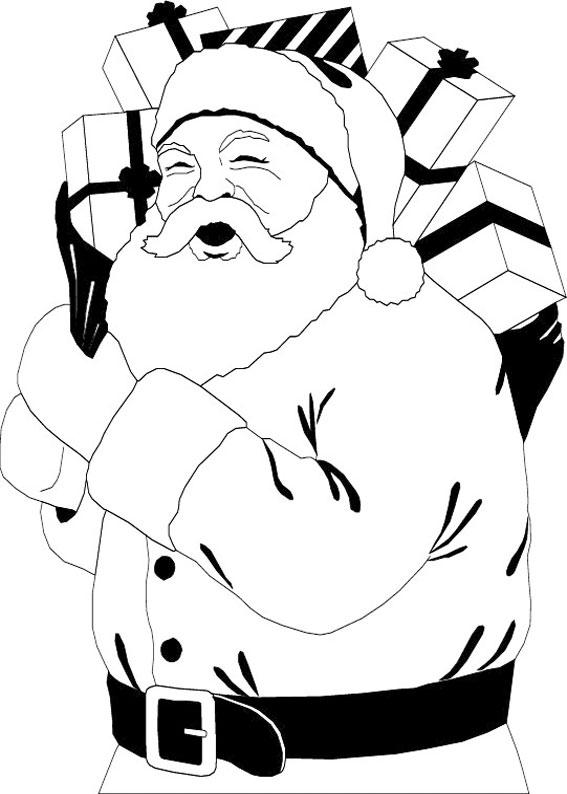 60 Disegni di Babbo Natale da Colorare   PianetaBambini.it