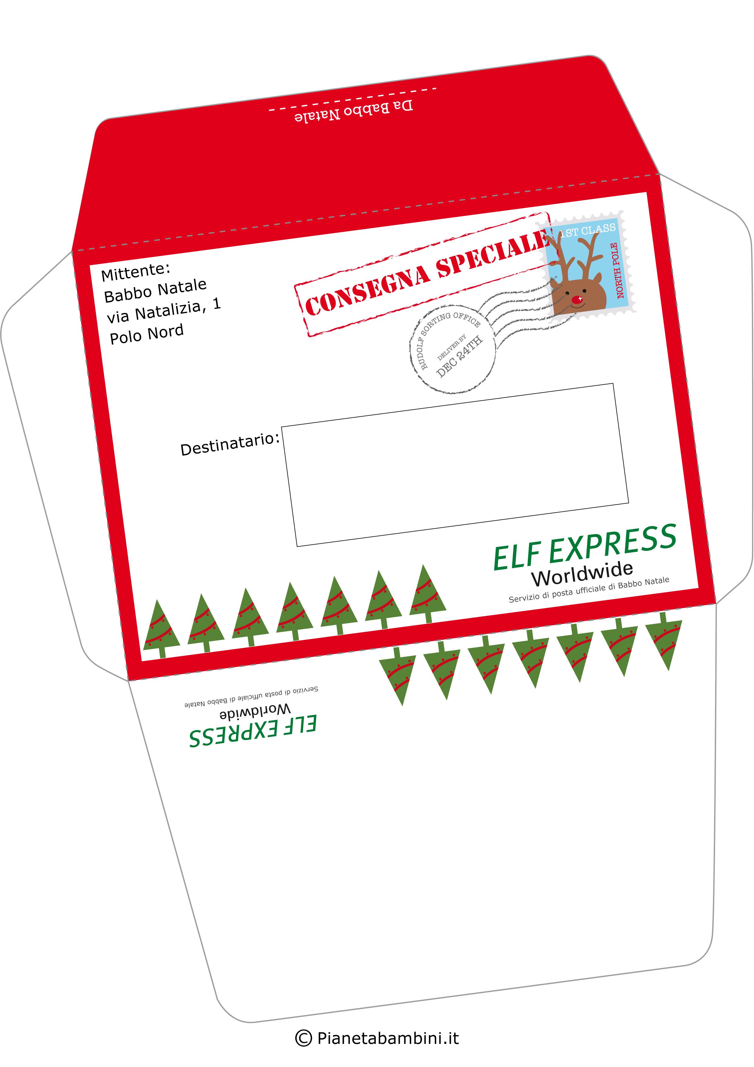 Busta della lettera da Babbo Natale