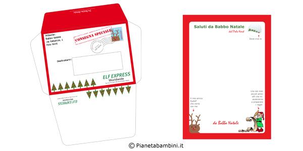Busta e lettera da Babbo Natale da stampare