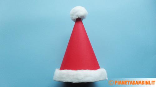 Risultato finale del cappello di Babbo Natale