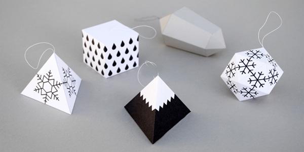 Lavoretti natalizi geometrici