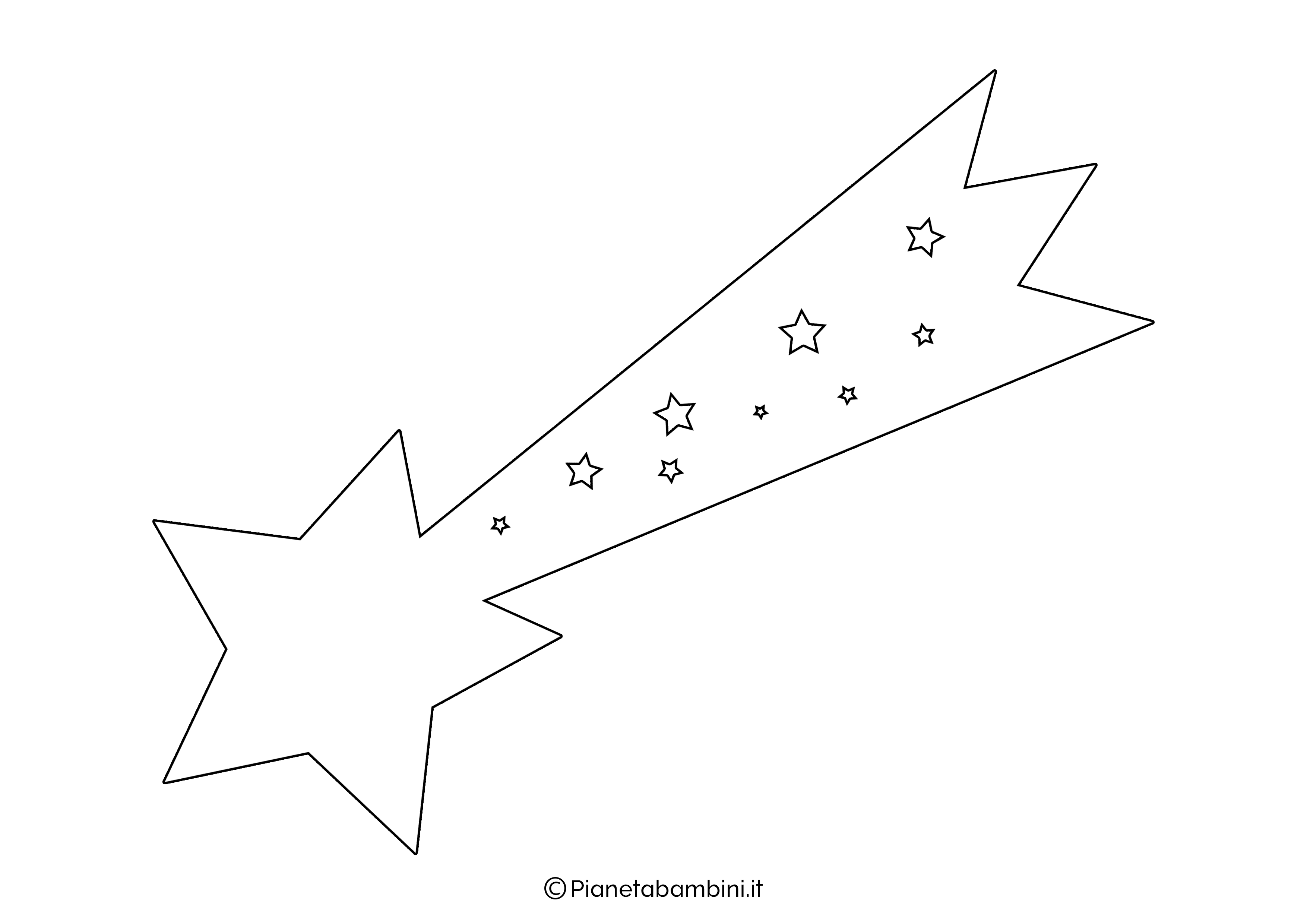 Sagoma Stella Cometa 04