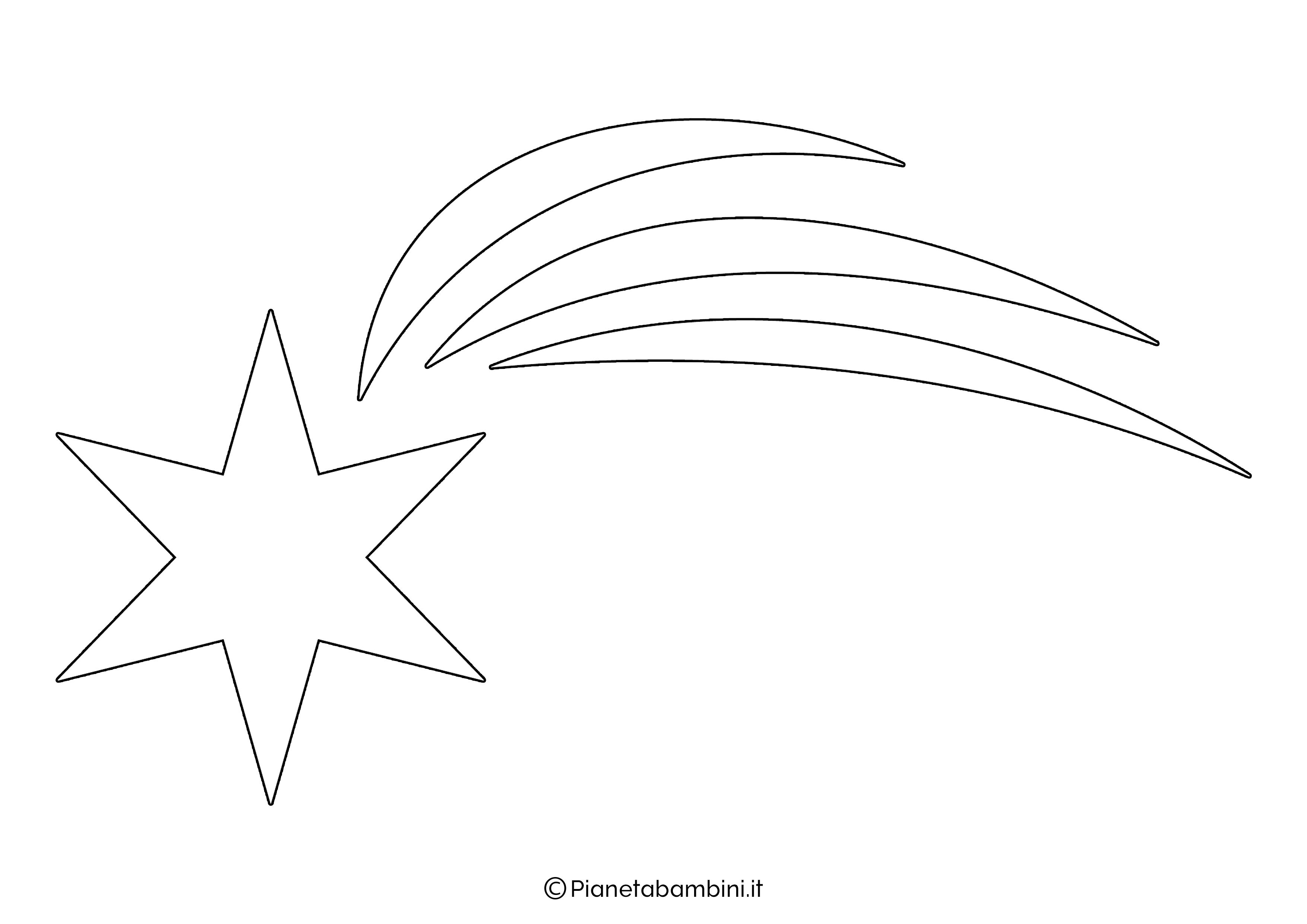Sagoma Stella Cometa 12