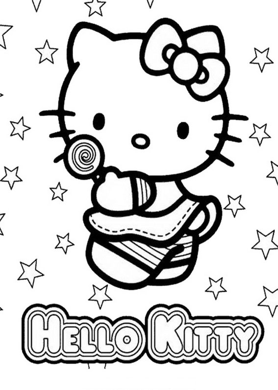72 Disegni Da Colorare Di Hello Kitty Pianetabambiniit