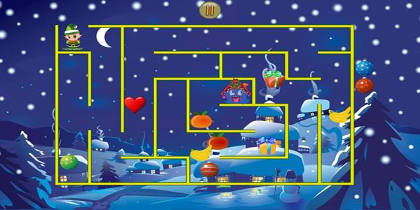 Labirinti di Natale per bambini