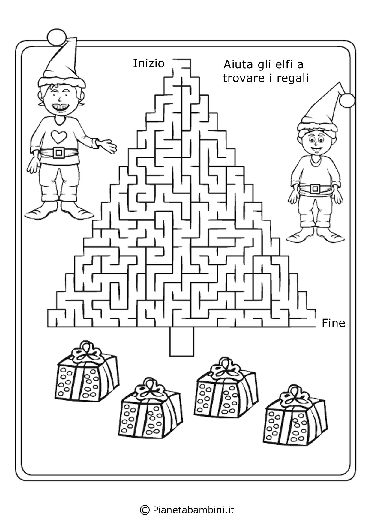 Labirinti per Bambini dedicati al Natale da Stampare ...