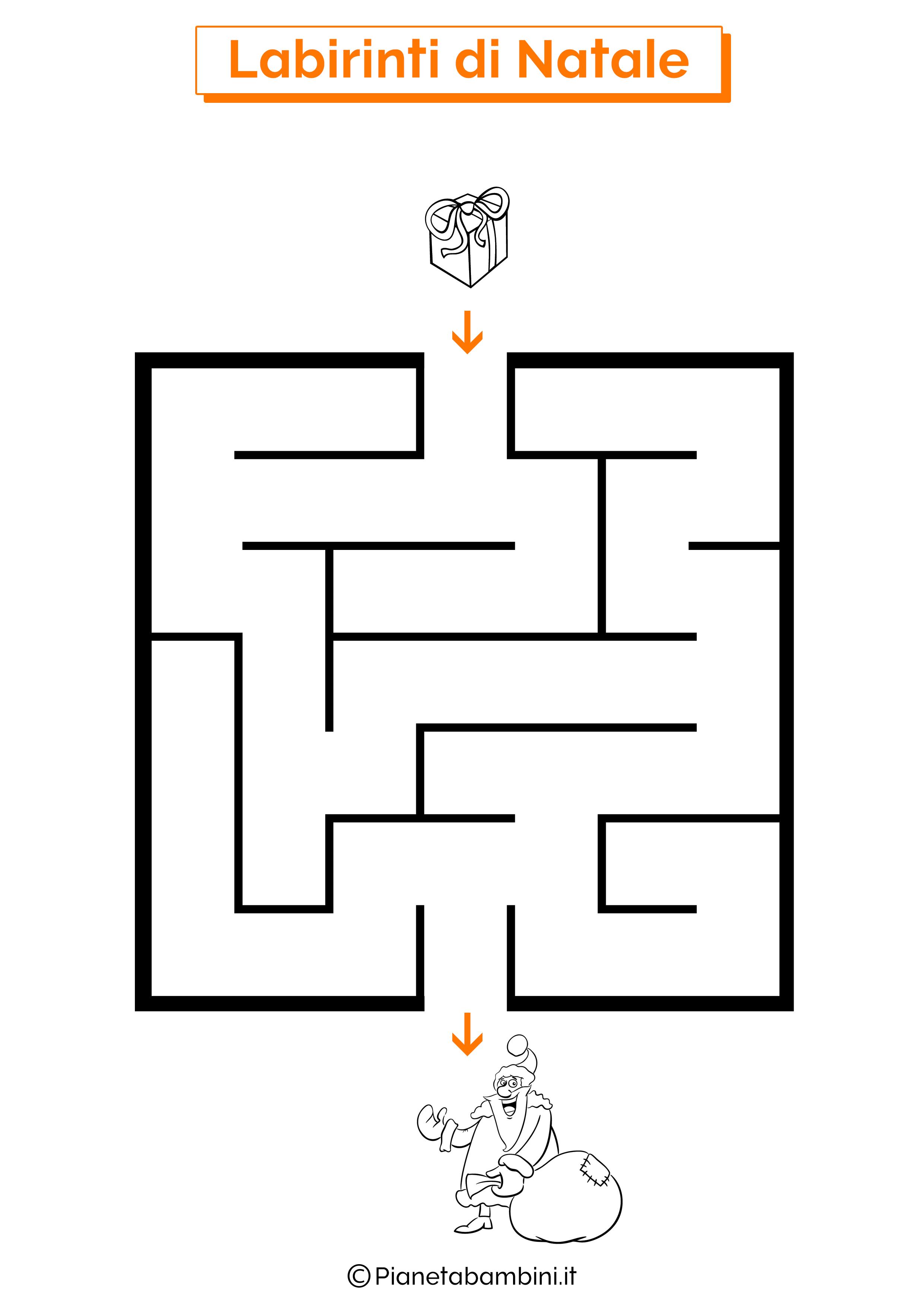 Labirinto di Natale da stampare 01
