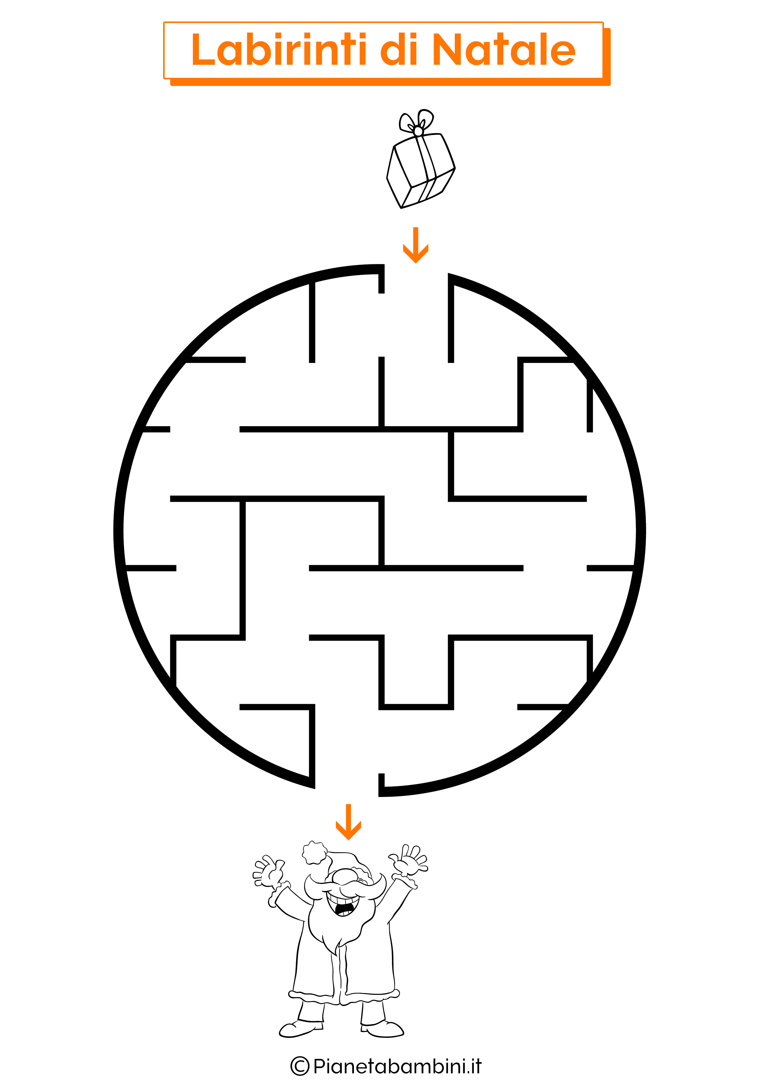 Labirinto di Natale da stampare 02