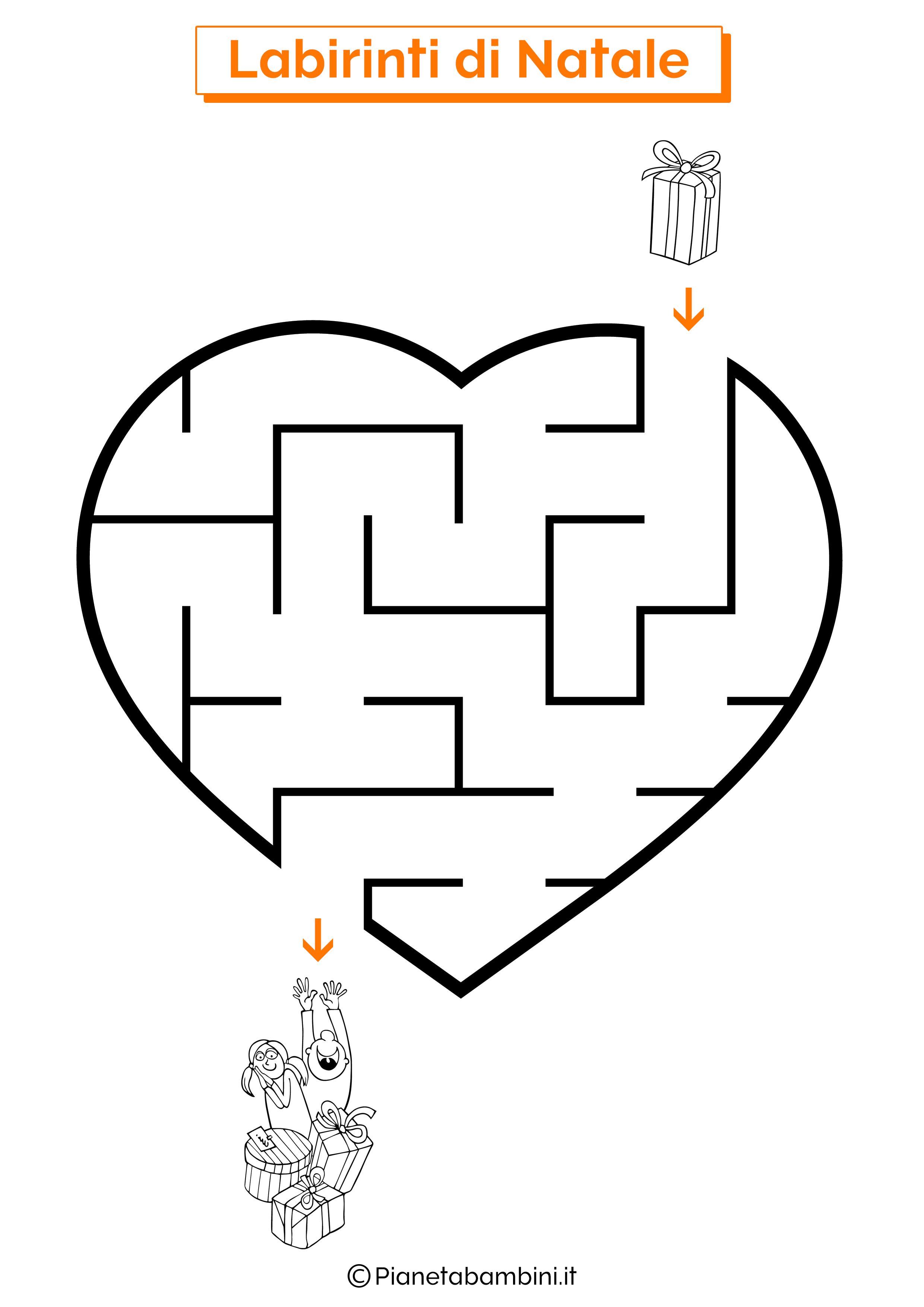 Labirinto di Natale da stampare 03