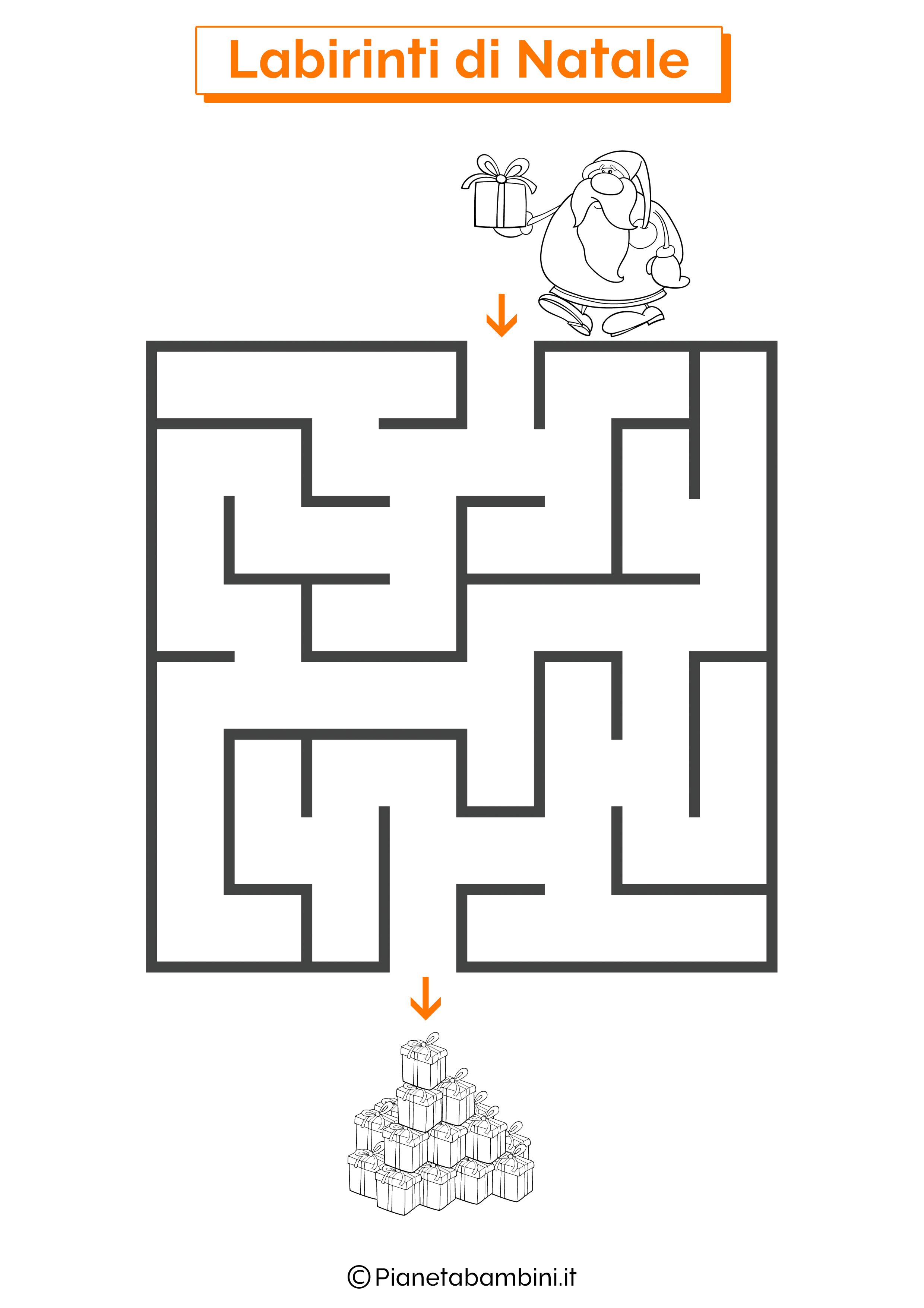Labirinto di Natale da stampare 05