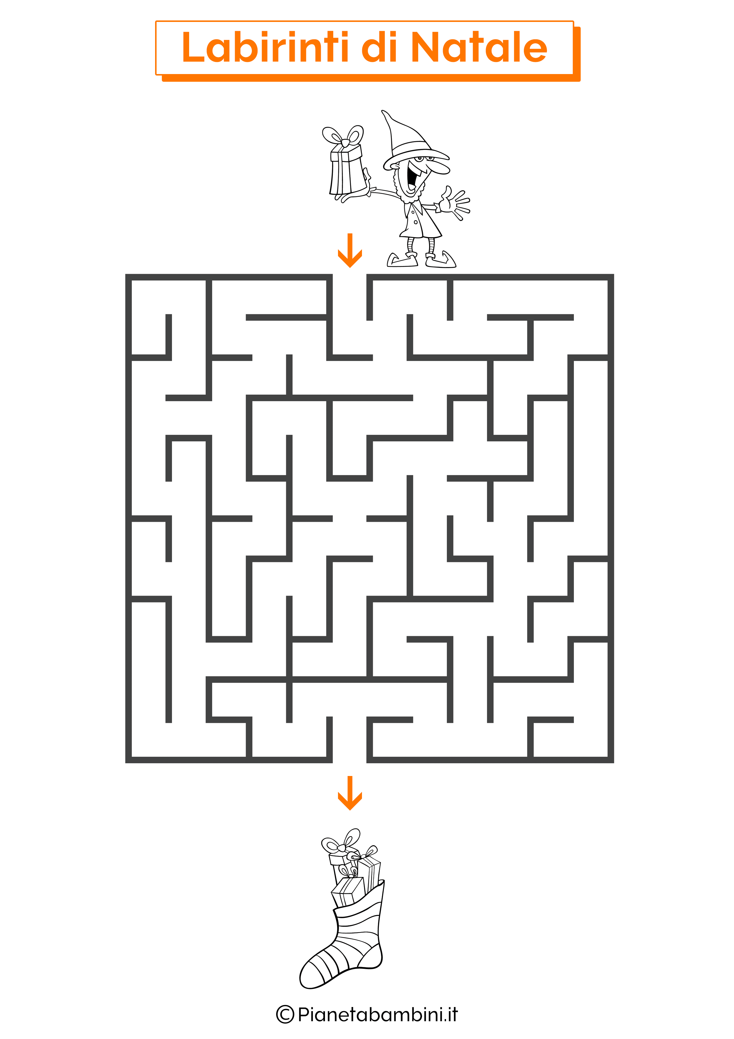 Labirinto di Natale da stampare 06