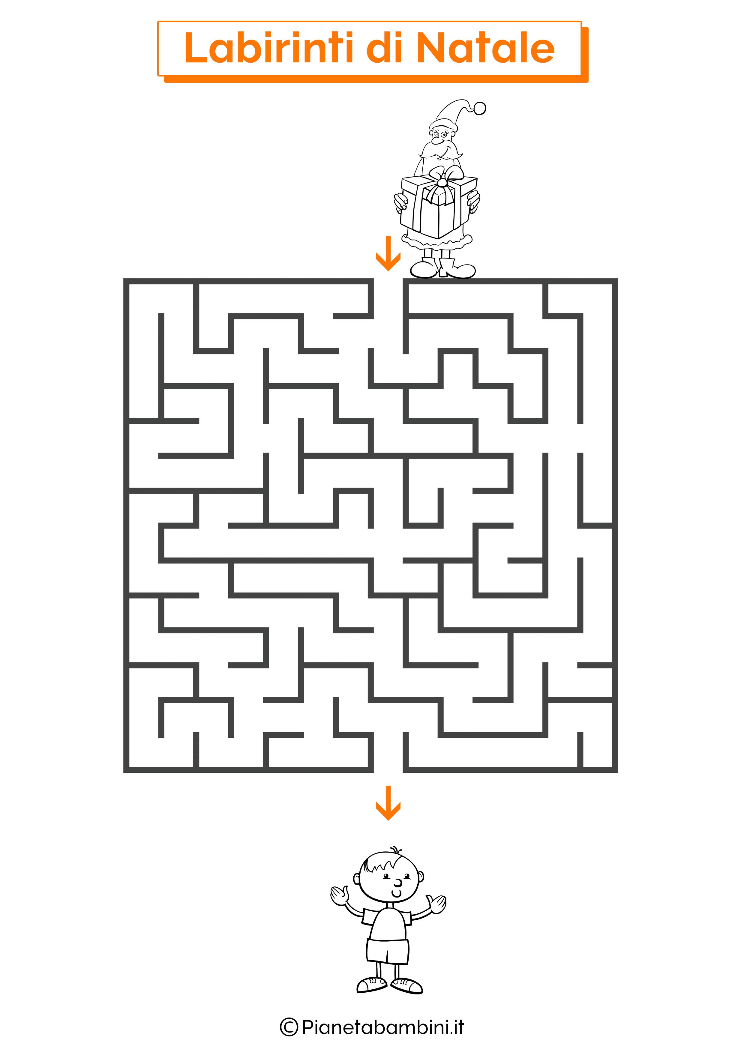 Labirinto di Natale da stampare 07
