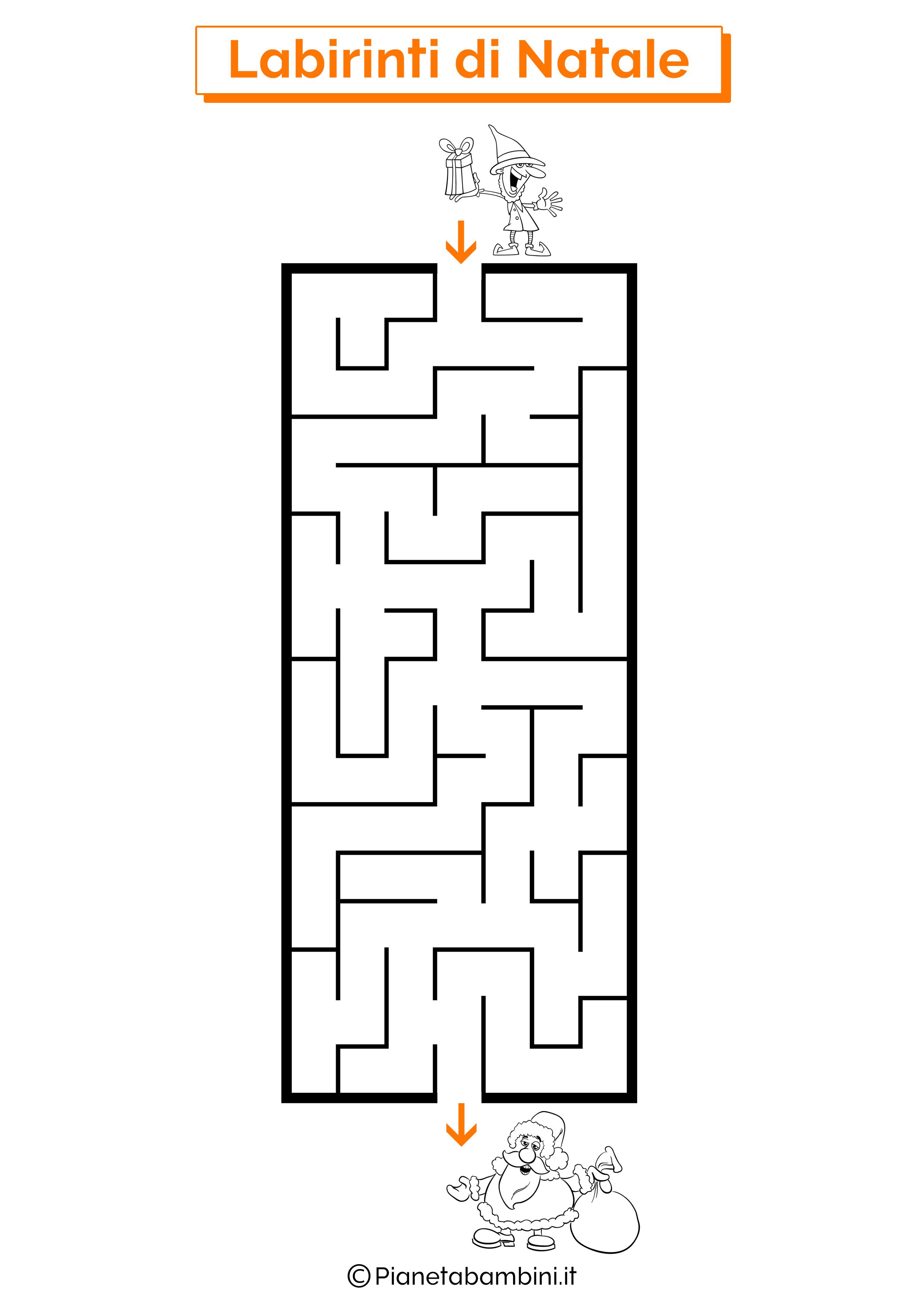 Labirinto di Natale da stampare 08