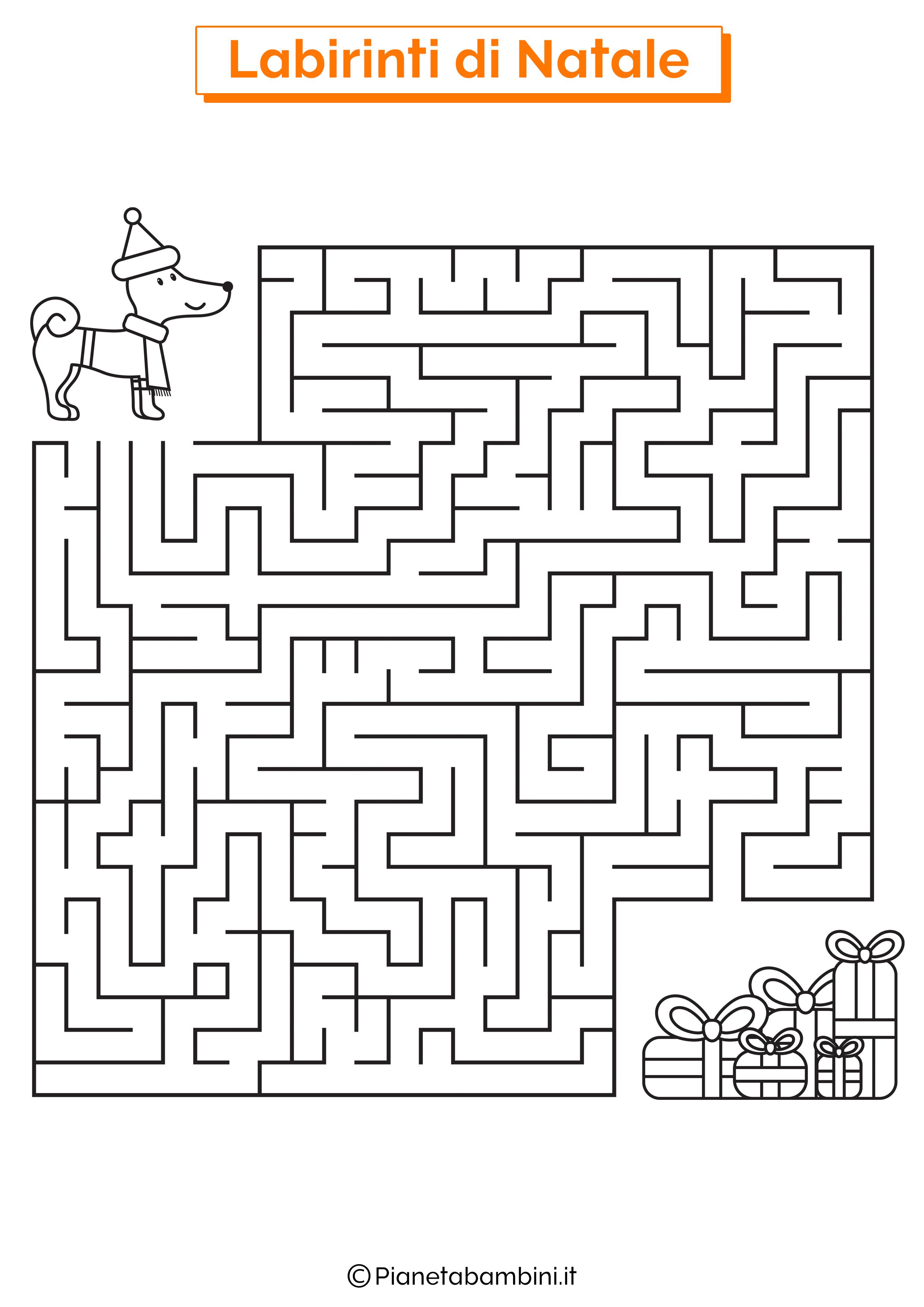 Labirinto di Natale da stampare 09