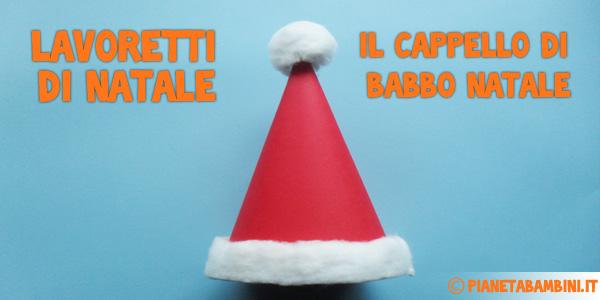 Come creare un cappello di Babbo Natale con la carta