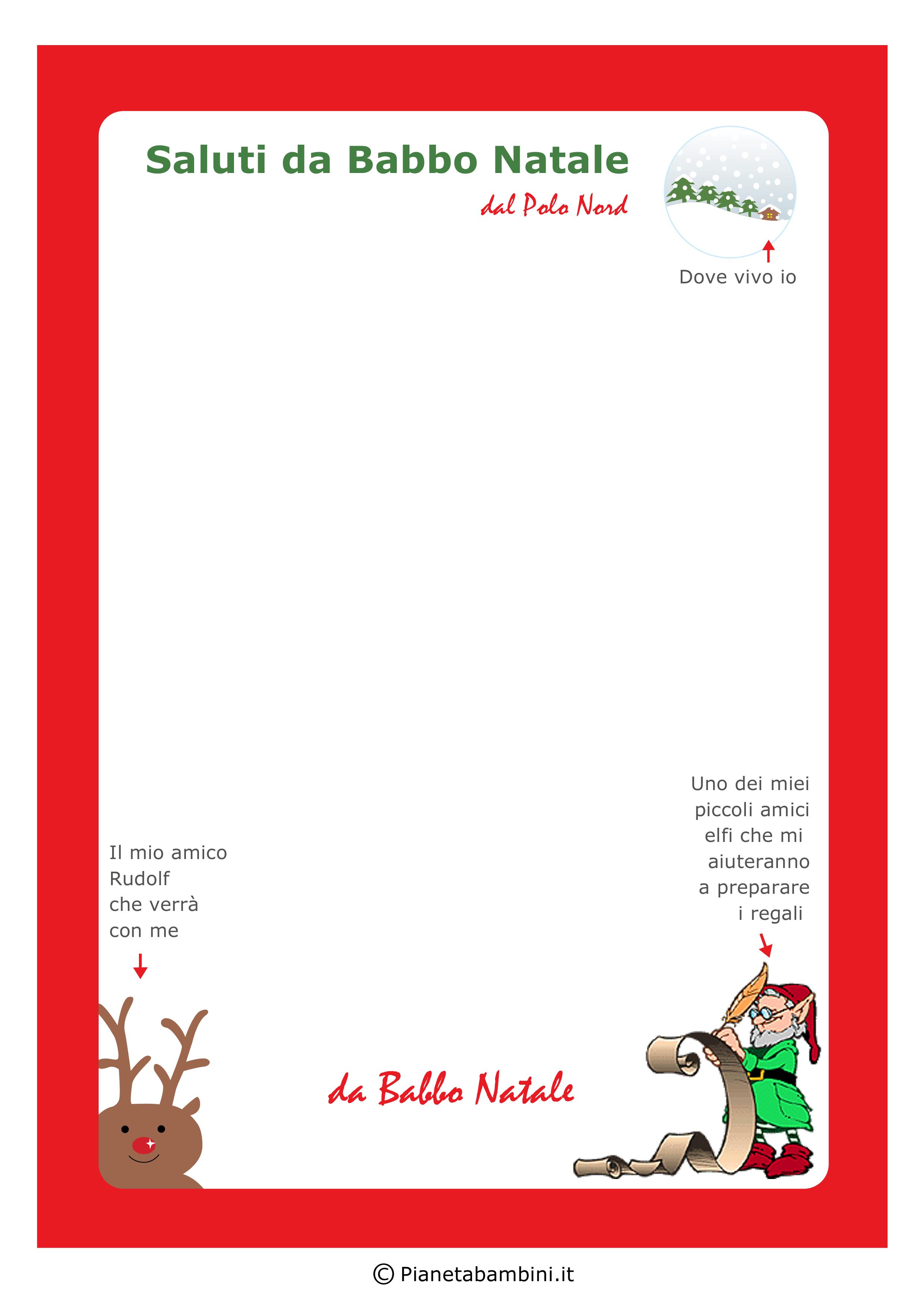Immagine della lettera da Babbo Natale