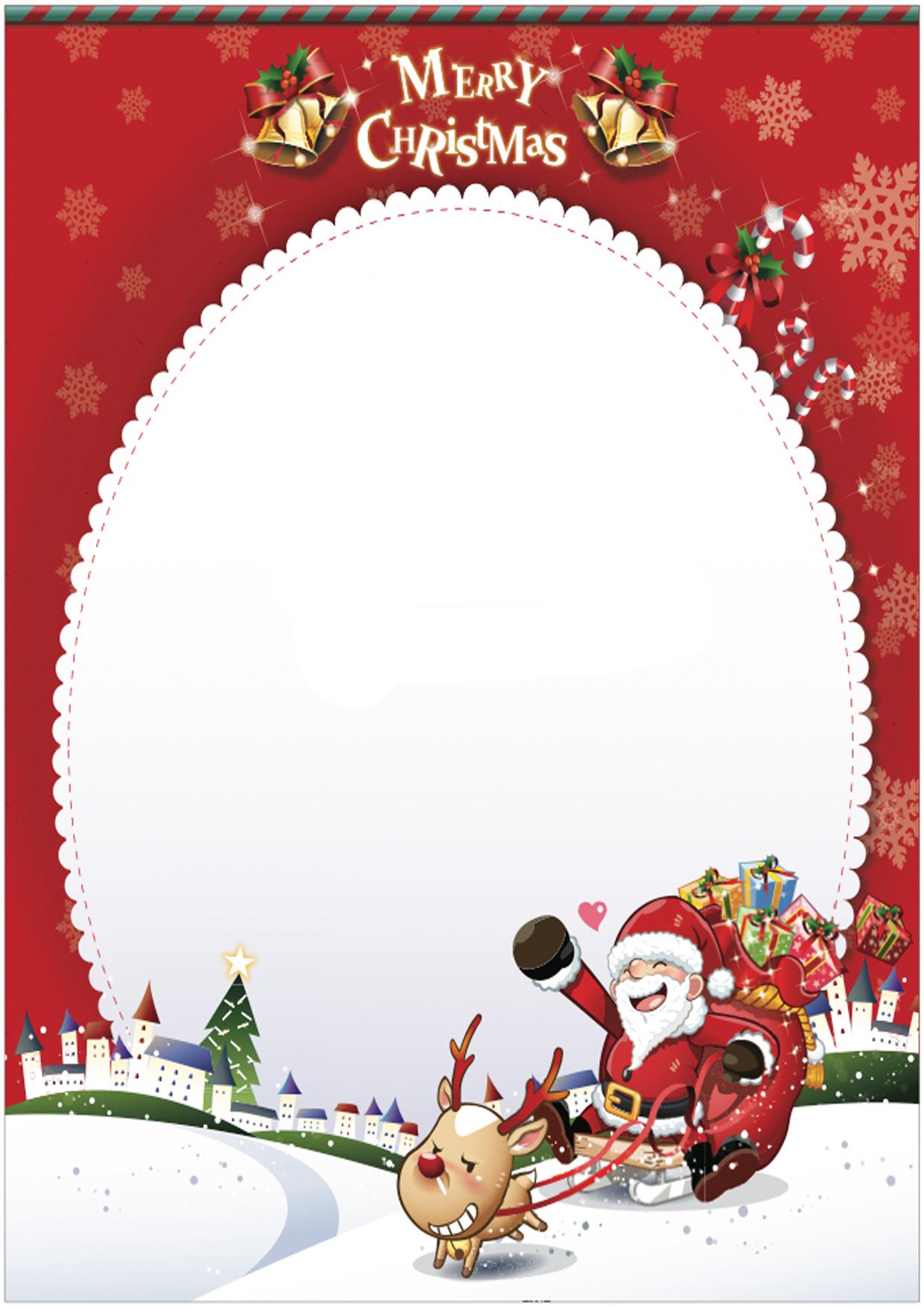 Favoloso Modelli di Lettera a Babbo Natale da Stampare Gratis  IS23