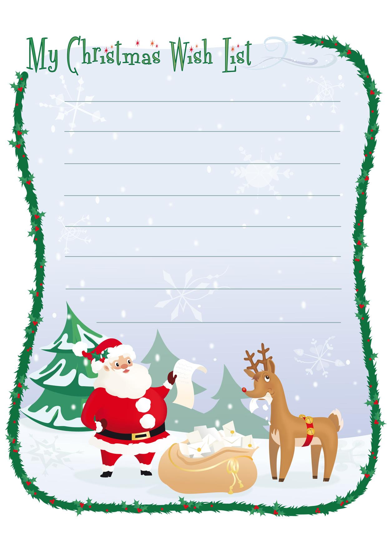 Preferenza Modelli di Lettera a Babbo Natale da Stampare Gratis  YN81